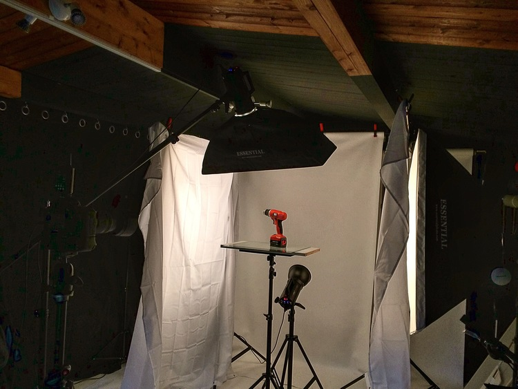 product photography being done in a professional setting