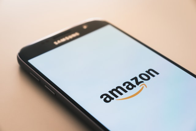 Amazon photography tips; amazon logo displayed on a mobile screen