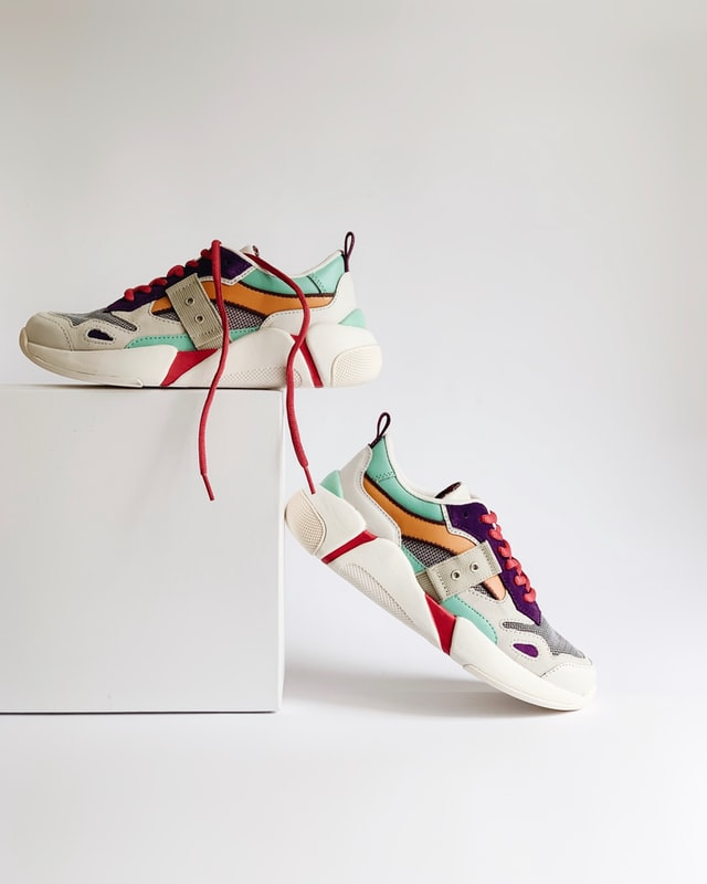 product photography for fashion merchandising; shoes photographed stylishly for e-commerce merchandising
