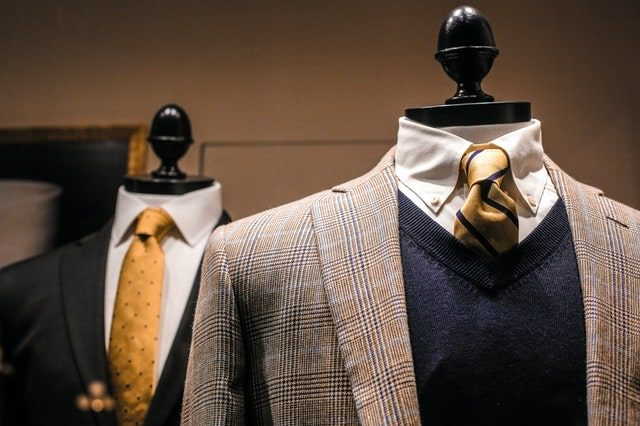 product photography for fashion merchandising; mannequin wearing dressy suits
